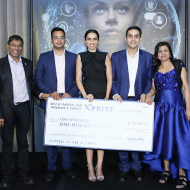 At the UN, Naveen, Anu Jain announce $1M winner for women's safety wearable