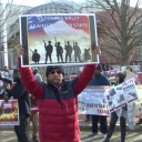 US Veterans Join Indian-Americans in Protest Against Pakistan in Washington DC